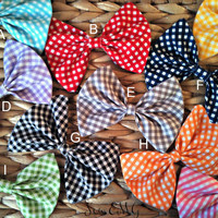Clip On Gingham Bow Tie by SewEMG on Etsy