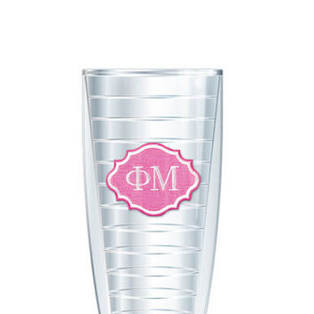 Phi Mu Tumbler -- Customize with your monogram or name!