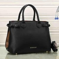 Burberry Women Fashion Leather Satchel Tote Shoulder Bag Handbag Crossbody-3