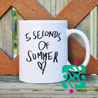 5 Seconds Of Summer Love Coffee Mug, Ceramic Mug, Unique Coffee Mug Gift Coffee