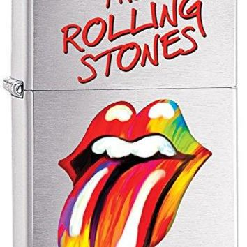 Celebrities Zippo Lighter Outdoor Indoor Windproof Lighter Free Customize Personalized Engrave Message Permanent Lifetime Engraving on Backside (Rolling Stones) (Style3)