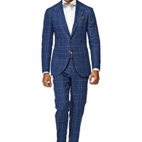 Suit Blue Check Hudson P3836 | Suitsupply Online Store
