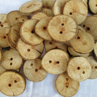 Wood Buttons Set of 50, Blank Wood Buttons, Round Buttons, Wood Buttons