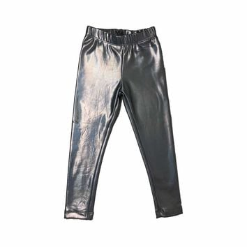Holographic Silver Leggings