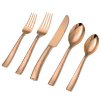 Paris Hammered Copper or Gold 20 Piece Set - Argent Orfèvres