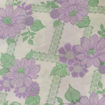 Retro bedding Brentfords sheet lavender white by peonyandthistle