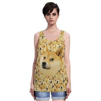 Bralette Comfortable Sexy Hot Summer Hot Sale Dogs 3D Print Stylish Casual Beach Quick Dry Vest [6049083201]