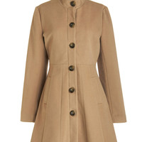 Tulle Clothing Playwrite on Time Coat | Mod Retro Vintage Coats | ModCloth.com