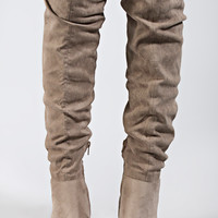 upside tall boot - toffee suede
