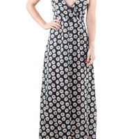 Black Daisies Maxi Dress