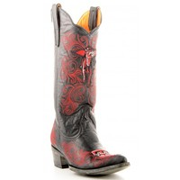 """Gameday Boots Womens 13"""" Leather Texas Tech Cowboy Boots"""