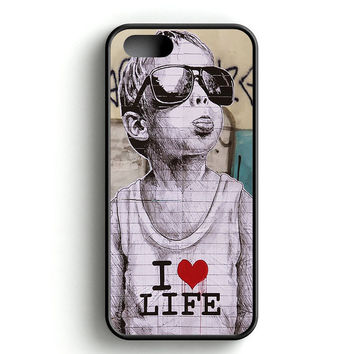 Banksy I Love Life Tongue iPhone 4s iPhone 5s iPhone 5c iPhone SE iPhone 6|6s iPhone 6|6s Plus Case