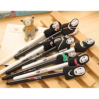 Idealgo Pack of 8 Spirited Away No Face Creative Cute 0.5mm Gel Pen Ghibli Spirited Away No Face Faceless Design Pens School Office Supplies (No Face Gel Pen)