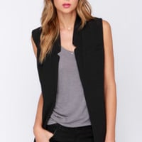 Only the Vest Intentions Black Vest