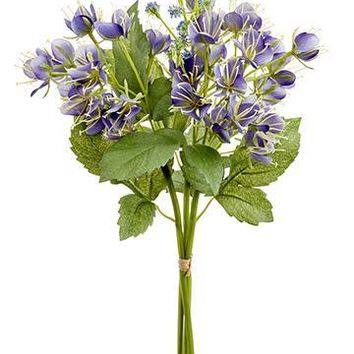 """Purple Artificial Cleome Spider Flowers Bundle - 18"""" Tall"""