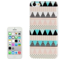 JUJEO New Stylish Aztec Tribal Pattern Retro Plastic Case for iPhone 5C - Non-Retail Packaging - Multi Color