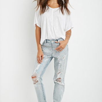 Sequined Boyfriend Jeans
