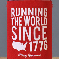 Running the World Since 1776 Koozie - Red