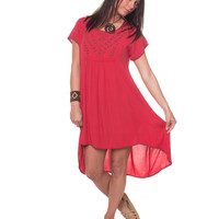 Coral Summer Dress: Soul Flower Clothing