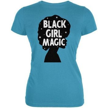 ICIK8UT Black History Month Black Girl Magic Afro Juniors Soft T Shirt