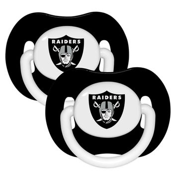 Raiders 2 Pack Baby Pacifiers