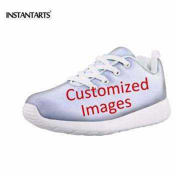 INSTANTARTS Customized Kids' Sneakers Sports Air Mesh Breathable Light Weight Students Running Athletic Shoes for Boy Girl Child