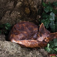 Sleeping Fox Statue