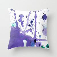 purple splash Throw Pillow by agnes Trachet | Society6