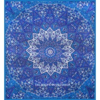 Grey Plum and Bow Star Medallion Wall Tapestry, Indian Hippie Bedspread - RoyalFurnish.com