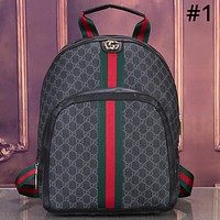 GUCCI Tide brand classic red and green striped double G printing men and women shoulder bag #1