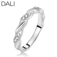 New Arrival Women Finger Rings on 3 Layers Platinum Plated & AAA Grade Austria CZ Crystal Wedding Engagement Ring DR18