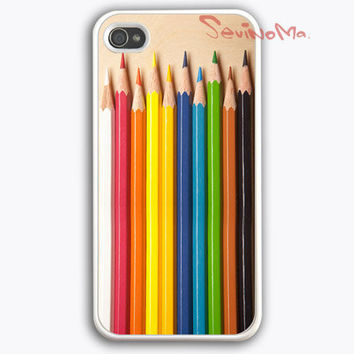 iphone case, iPhone 4 Case,  iphone 4s case, Color Pencils Set iPhone Hard Case