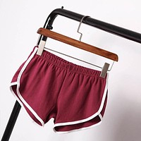 Summer Shorts Women Shorts Workout Waistband Skinny Short Clothing Short Pants Trousers Indoor Solid Waistband Work Out Costume