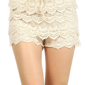 Angela Crochet shorts
