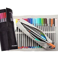 Staedtler Triplus Fineliners 20 Assorted Colours with Pencil Case 334 Pc20 Black