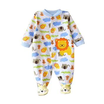 Near Cutest 2017 Winter Baby Rompers Long Sleeves 100% Cotton Infant Coveralls Newborn Baby Boy Girl Clothes Baby Clothing