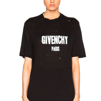 Distressed Black Tee by Givenchy