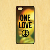 One Love Bob Marley Phone Case iPhone 4 / 4s / 5 / 5s / 5c /6 / 6s /6+ Apple Samsung Galaxy S3 / S4 / S5 / S6