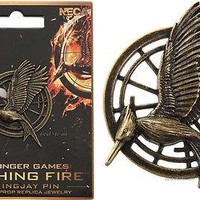 Licensed cool Hunger Games CATCHING FIRE Mockingjay PIN PROP REPLICA Jewelry Katniss NECA NEW
