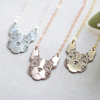 Graphic French Bulldog Necklace