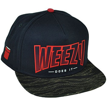 Cayler and Sons Weezy Does It Snapback Flat Bill Premium Headwear Hat Cap Blue