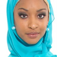 Aqua Blue Oblong Chiffon Wrap Hijab - Islamic hijabs - Islamic hijab fashion at Artizara.com