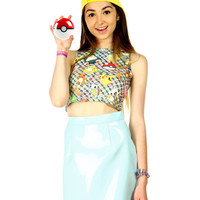 POKEMON STICKER CROP TANK