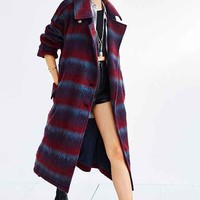 Ecote Oversized Robe Coat- Red Multi One