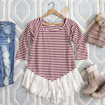 The Striped Babe Tee in Plum