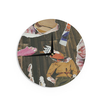 "Jina Ninjjaga ""Autumn"" Pop Art Wall Clock"