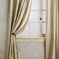 Ikat Blossom Curtain by Anthropologie