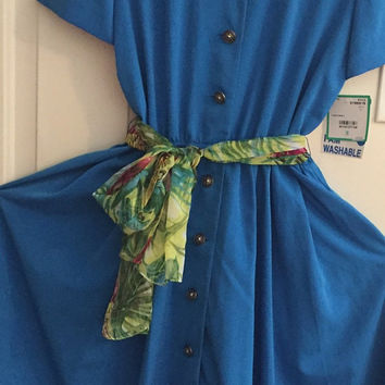 Vintage 80's Leslie Fay shirt dress size 10