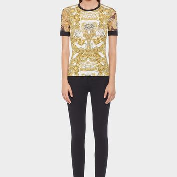 Versace Barocco Istante Slim Fit T-shirt for Women | US Online Store