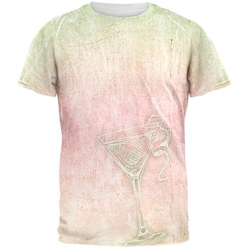Summer Cocktail Martini All Over Mens T Shirt